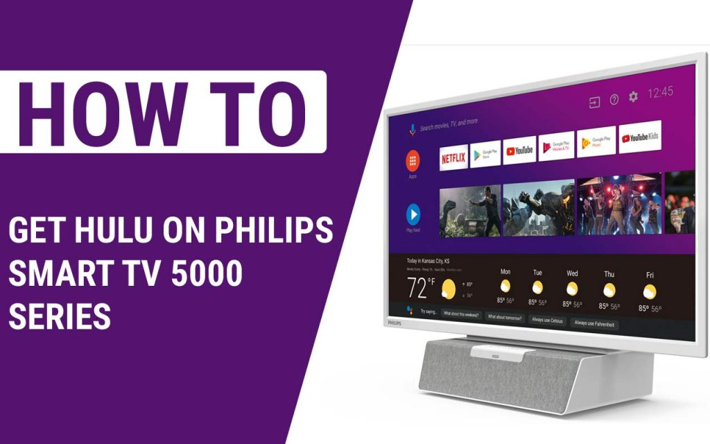 How To Get Hulu On Philips Smart TV 5000 Series